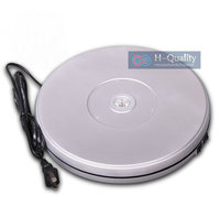 250X40MM Electric And Manual Rotary Turntable Display Stand With LED Light Two Direction Swivel Plate Form