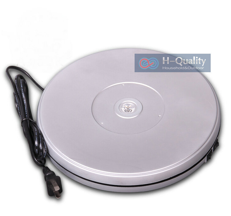 250X40MM Electric And Manual Rotary Turntable Display Stand With LED Light Two Direction Swivel Plate Form Packaging & Display 3 speed change remote and manual control 60 90 120 secs circle 60x10cm electric turntable display stand rotary model show