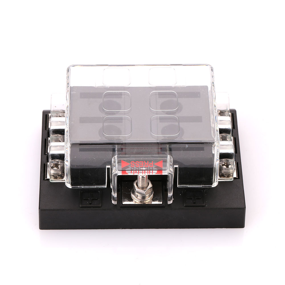 Car Auto Internal Circuits Fuse Box Case Mount Holder Block 6Way DC32V