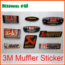 auto car Aluminium Heat resistant Motorcycle Exhaust Pipes Decal Sticker Cool Personality Scorpio Yoshimura Universal Stickers