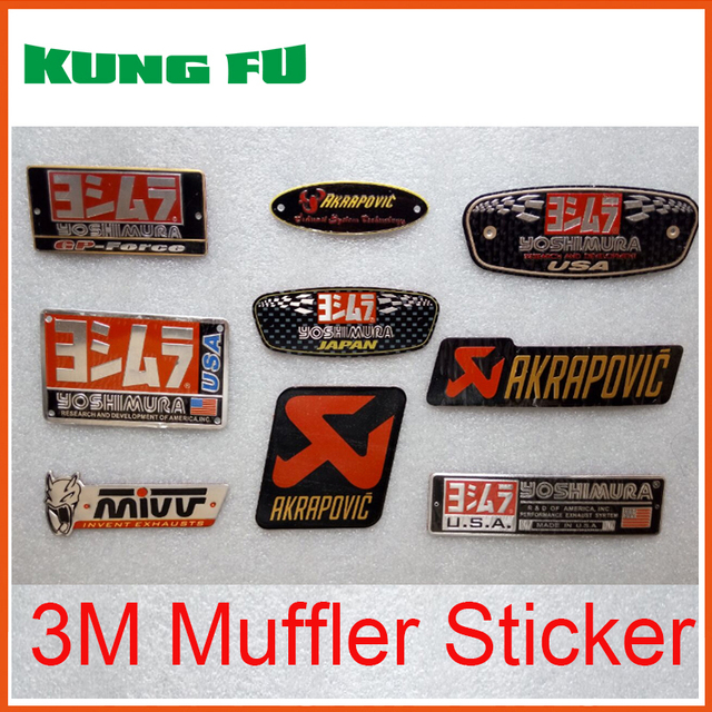 Auto car aluminium heat resistant motorcycle exhaust pipes decal sticker cool personality scorpio yoshimura universal