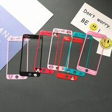 Полное покрытие мультяшная защита для экрана для IPhone X 6 s 6 S 7 8 плюс закаленное стекло IPhoneX Coque защиты телефон интимные аксессуары
