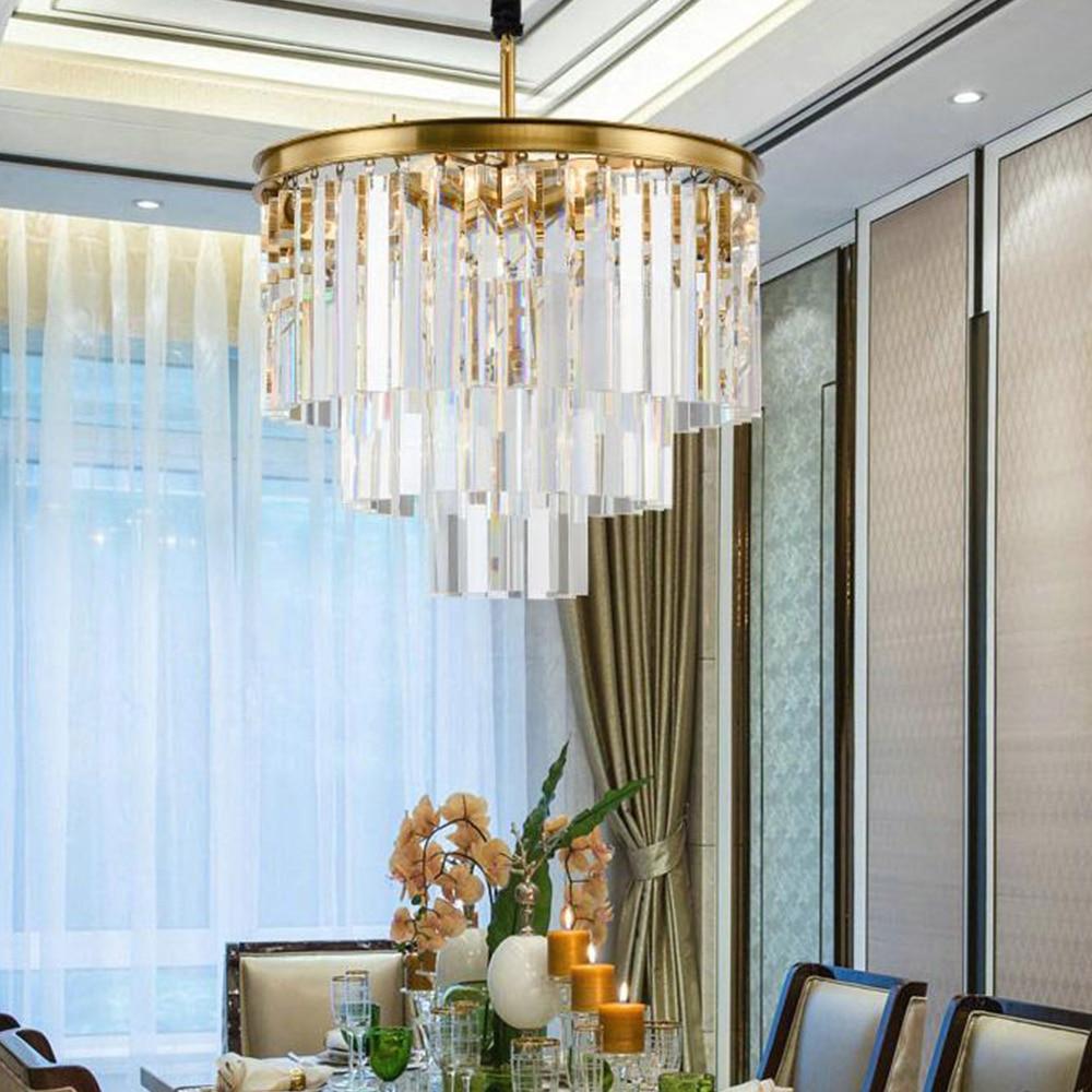 Polaris Designed For Living Srl modern k9 crystal chandelier lighting fixture luxury golden