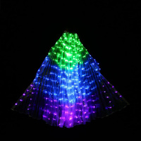 Adult Led Isis Wings Golden Belly Dancing Accessory Egypt Dancer Stage Performance Props With Stick Led