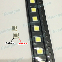 200PCS Original for WOOREE LED Backlight LED 2W 6V 3535 150LM Cool white WM35E2F YR09B eA LCD Backlight for TV Application