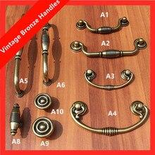 160mm vintage style furniture handles bronze dresser kitchen cabinet wardrobe door handles antique brass shaky rings drawer knob