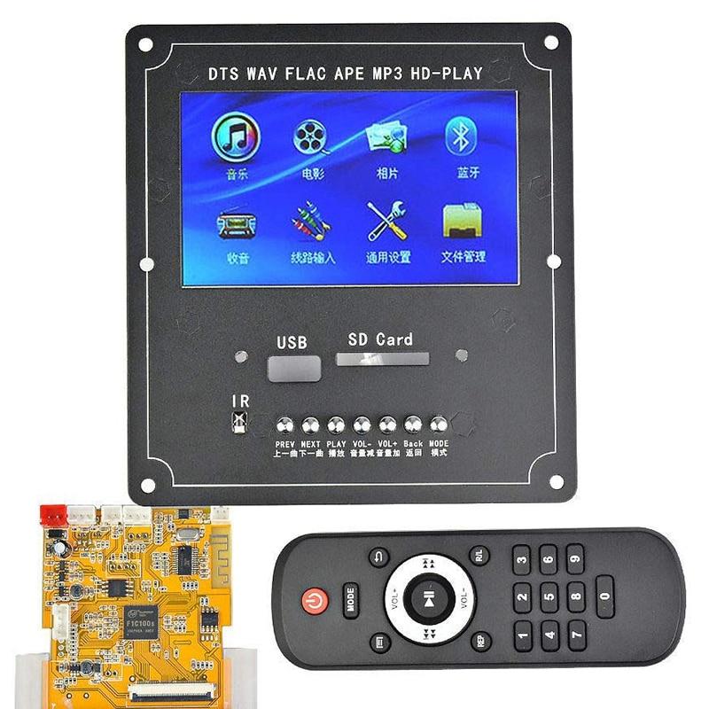 Dc5V 4.3 pouces Lcd Dts sans perte Audio Bluetooth récepteur décodeur carte Mp4/Mp5 Hd vidéo Flac Ape Wmv Wma Mp3 décodeur