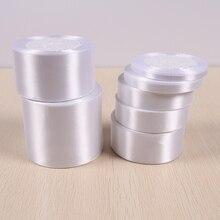25 ярдов/рулон) белая односторонняя атласная лента подарочная упаковка рождественские ленты 01