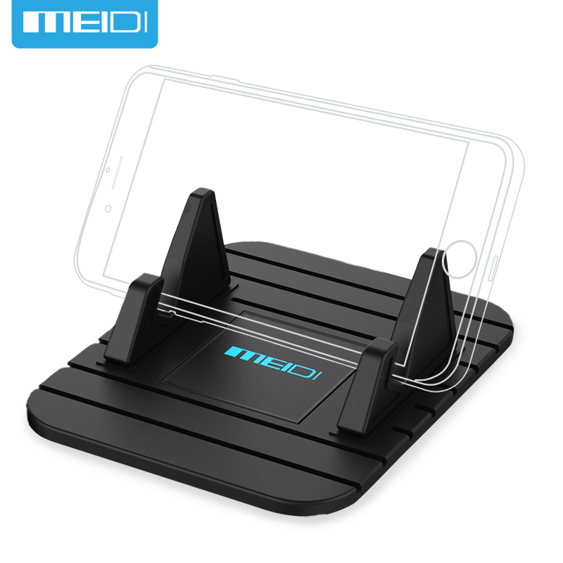MEIDI Universal Soft Silicone Mobile Phone Holder Car Dashboard GPS Anti Slip Mat Desktop Stand Bracket for iPhone 5s 6 Samsung  цена