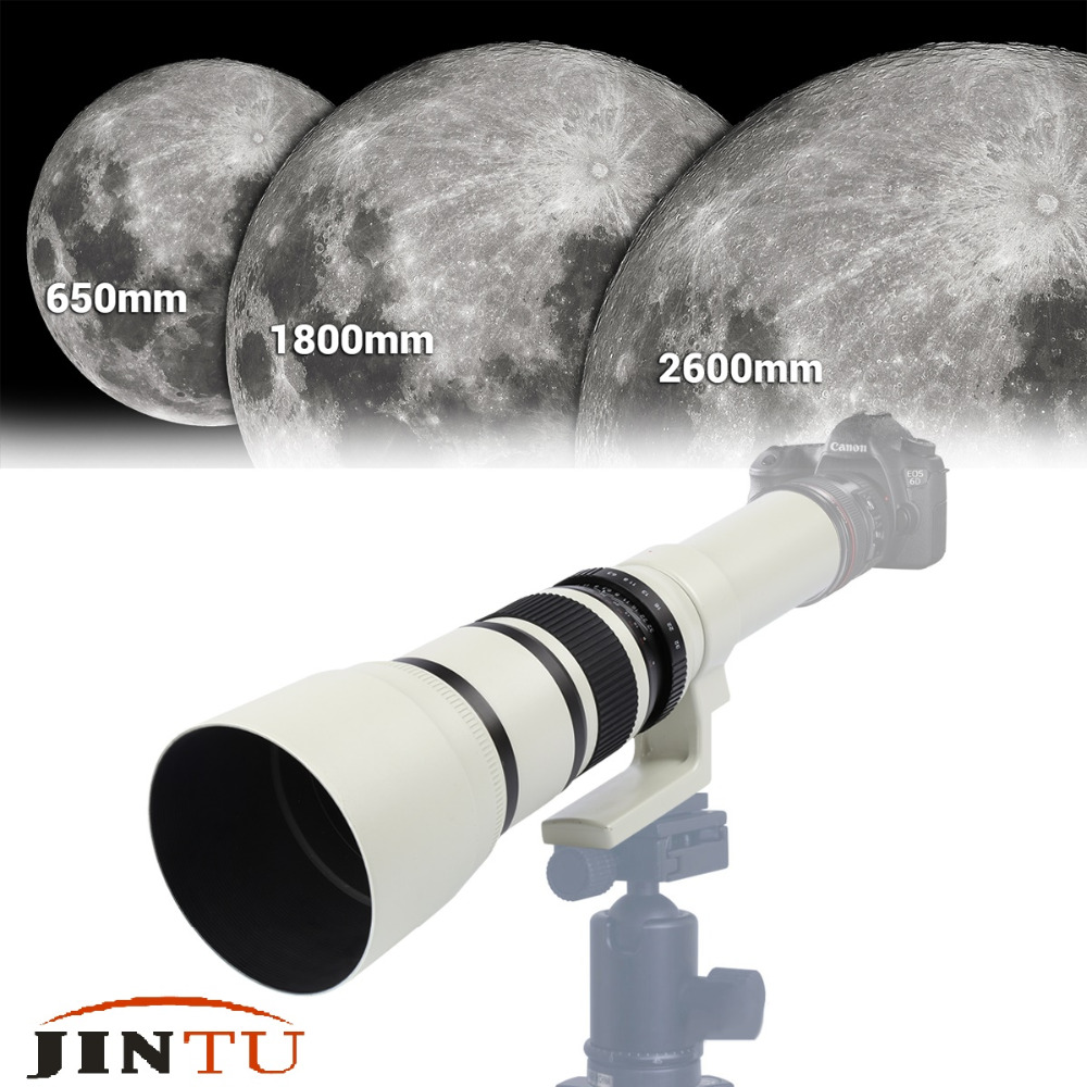 цена JINTU 500mm F6.3 Super telephoto Lens For Astronomical Telescope Shooting for NEX A7R A7RII A7S A6000 Cam