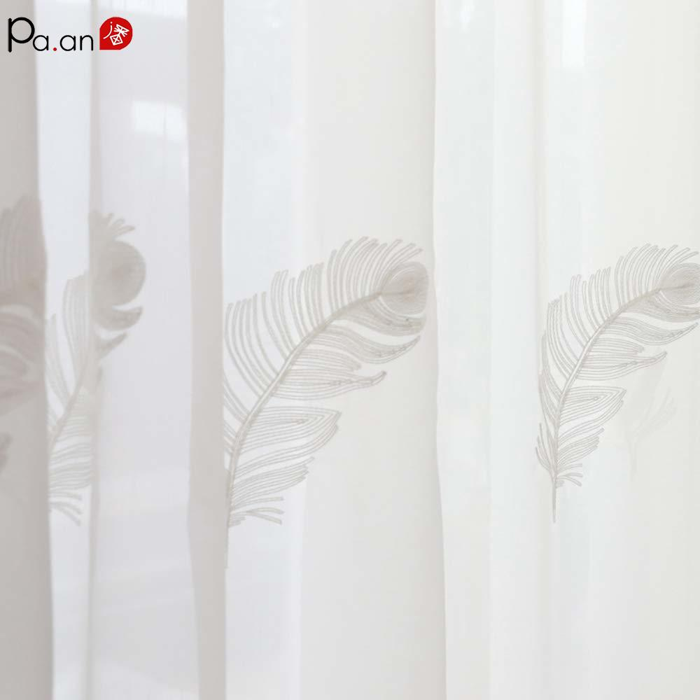 Luxury Tulle Window Curtain Living Room Cortinas Dormitorio Sheer White Voile Curtains Bedroom Window Screen Custom Processing in Curtains from Home Garden