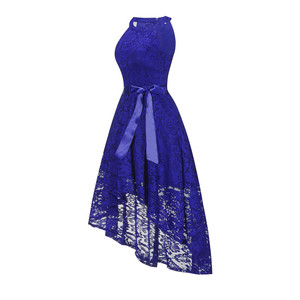 Image 2 - OML 526 # bicchierino della Parte Anteriore posteriore lungo blu scuro halter Bow Damigella Donore Abiti da sposa vestito da partito di promenade del commercio allingrosso di abbigliamento di moda