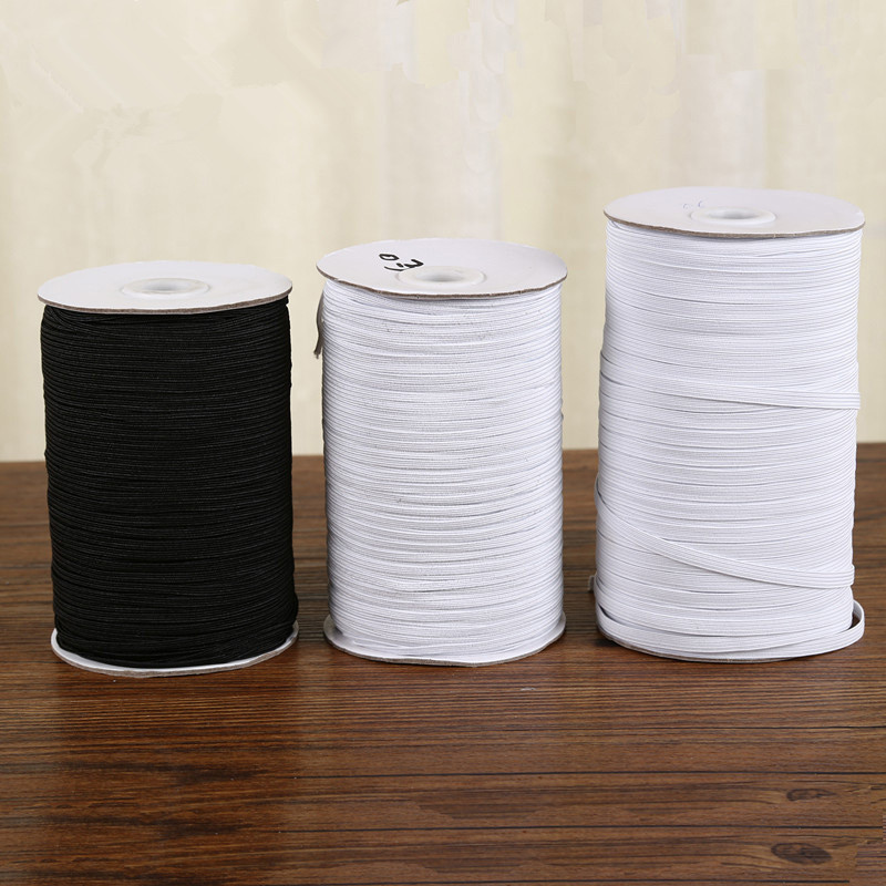 High-elastic White Black Elastic Bands 3mm To 50mm Rope Rubber Line Spandex Ribbon Sewing Lace Trim Waist Band Cloth Accessories