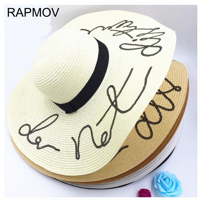 RAPMOV summer straw hat sun hats for women beach hat ladies