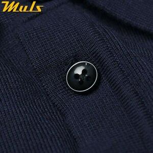 Image 5 - 8 色メンズポロセーターシンプルなスタイルの綿ニット長袖プルオーバービッグサイズ 3XL 4XL 春秋 Muls ブランド MS16005