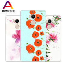 Xiaomi redmi 4 pro Case,Silicon beautiful flowers 3D relief Soft TPU Back Cover for Xiaomi redmi4 pro Transparent Phone Bags