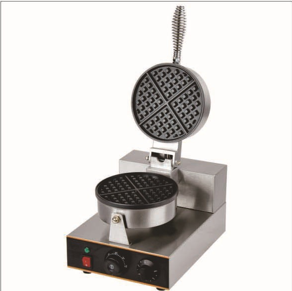 110V/220v Electric 4-Slice commercial egg Waffle Maker Machine Baker Iron_one plate waffle baker 110v 220v rotating electric belgian liege waffle baker maker machine iron