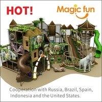 Волшебный весело Крытая Площадка Детская Пластмассовая Горка развлечений Ребенка крытая площадка Детские площадки воды детская игровая п