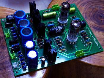 ZEROZONE Assembeld Hifi WE420A (5755) + 12AU7 Tube Stereo preamplifier board L8-28