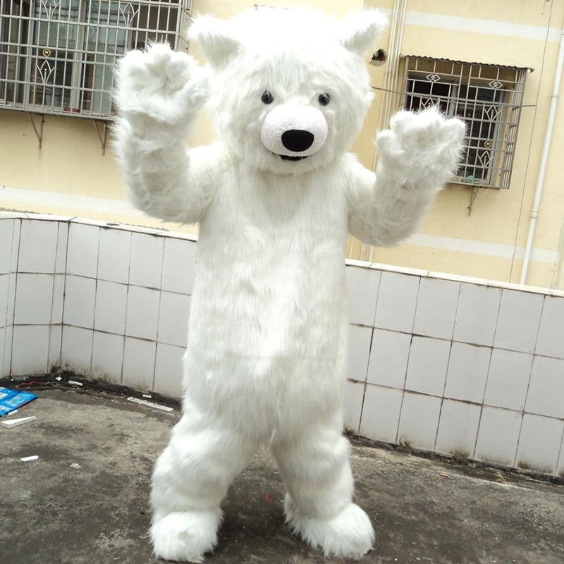Best Seller Festival Costumes Polar Bear Mascot Costume White Bear Christmas Carnival Costumes