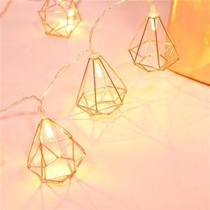 10 LED Rose Gold Copper Hexago