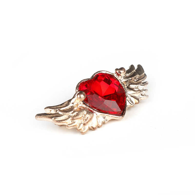 Dongsheng fashion baru enamel bros merah hati angel wings pin wanita Gadis Logam Paduan Capter Sakura Kartu Lencana Pin Jantung-40