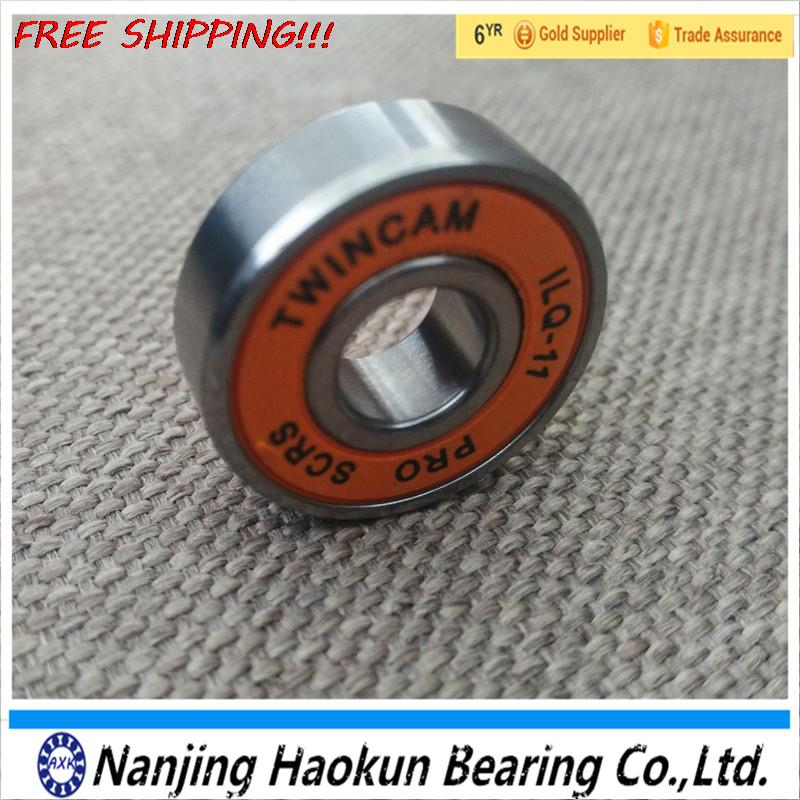 Free Shipping  8pcs ABEC 11  popular brands 8*22*7 mm  skate bearing 608rs for skateboard orange rubber