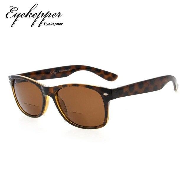 0b02ace032 R093 Bifocal Eyekepper Classic Bifocal Sunglasses Men Women (Grey Lens Brown  Lens) +1.0 1.25 1.5 1.75 2.0 2.25 2.5 3.0