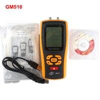 GM510 Handheld Digital Pressure Gauge Manometer +/ 10kPa Pressure Differential Tester USB Manometro
