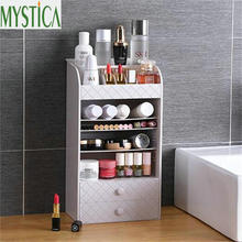 NEW Plastic Jewelry Cosmetic Storage Box Small Drawer Organizer Multi-functional Desk Sundries Makeup Case Container