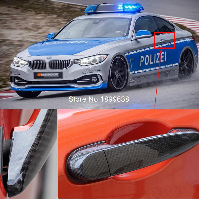 Rear Carbon Fiber Door Handle Bar Cover sticker car accessories styling For BMW 4 series F32 F33 F36 428i 420i 420d 2013 2015