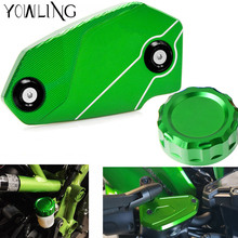 LOGO Z800 Motorcycle Accessories Cylinder Rear Fuel Brake Fluid Reservoir Cover Tank Cap For Kawasaki 2013-2016