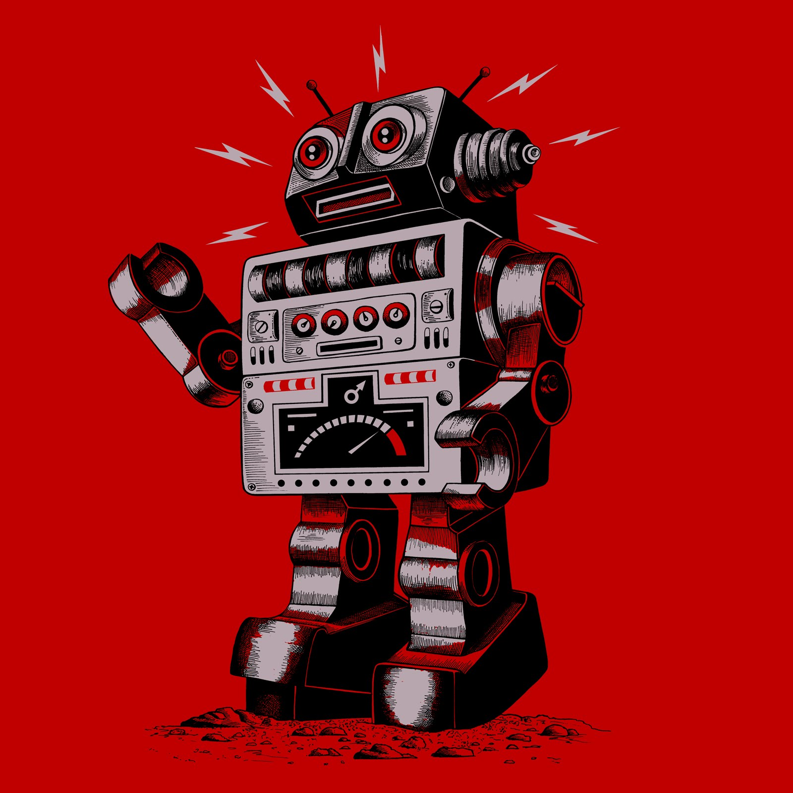 Vintage Mechanical Robots Sci FI Science Fiction Classic