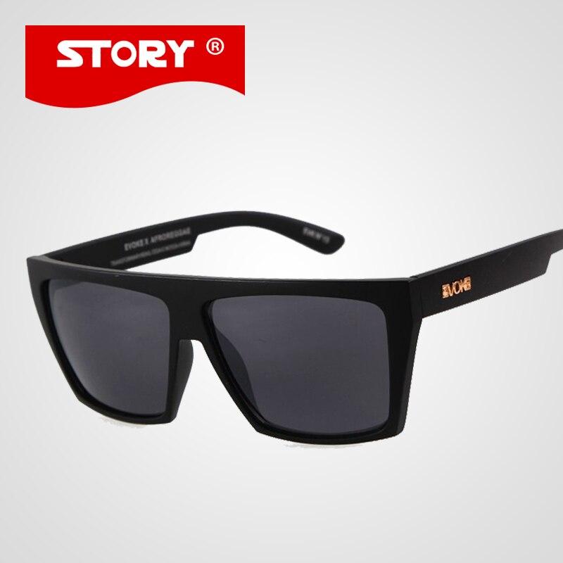 EVOKE lunettes de Soleil Hommes Carré Sport Revêtement Amplificateur Soleil Lunettes HISTOIRE 12 Couleurs Hommes En Plein Air Oculos de sol masculino UV400