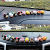 10pcs/set car cartoon dashboard animal accessories toys decoration dog pig bear model doll auto interior dashboard ornament play accessories adornment