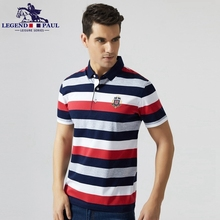 Legend Paul Brand 2017 New High Quality Cotton Men Polo business Shits Short Sleeve Slim Fit Casual Leisure Men Clothing