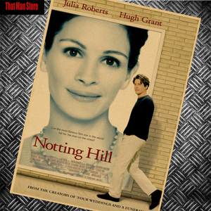 Vintage Julia Roberts Notting Hill core Classic Movie Kraft Paper Poster Wall Decorative Paintings 42x30cm