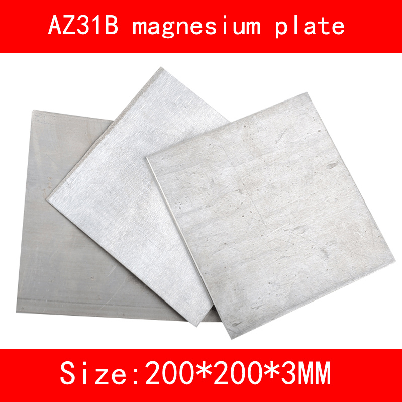 size:length*width*thickness/200mm*200mm*3mm AZ31B Magnesium metal alloy plate Mg sheet size 200 200 5mm teflon plate resistance high temperature work in degree celsius between 200 to 260 ptfe sheet