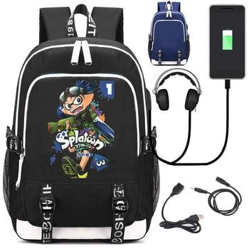 Рюкзак Splatoon USB зарядка и кабель бесплатно 1