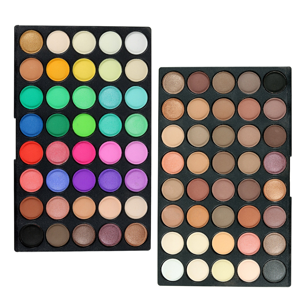 POPFEEL Brand Eye Makeup Matte Eye Shadow Palette 80 Colors/set Women Beauty Essential Make up Cosmetics Eyeshadow Kit Shadows