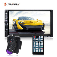 TOPSOURCE Car Multimedia Player 7020G 7'' HD Touch Screen 2 Din Auto With GPS MP3 MP5 Audio Stereo Radio Bluetooth FM USB