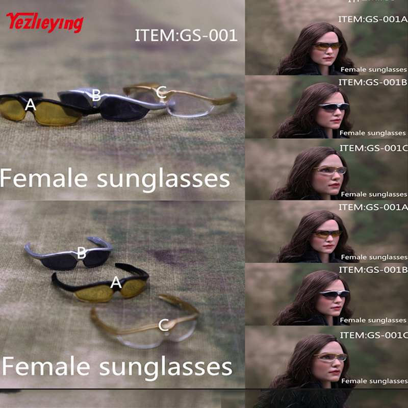 Action & Toy Figures 1/6 Scale Clothing Accessories Female Doll Sunglasses Women Glasses Windproof Goggles Gs001a/b/c F 12 Action Figure Toys Model