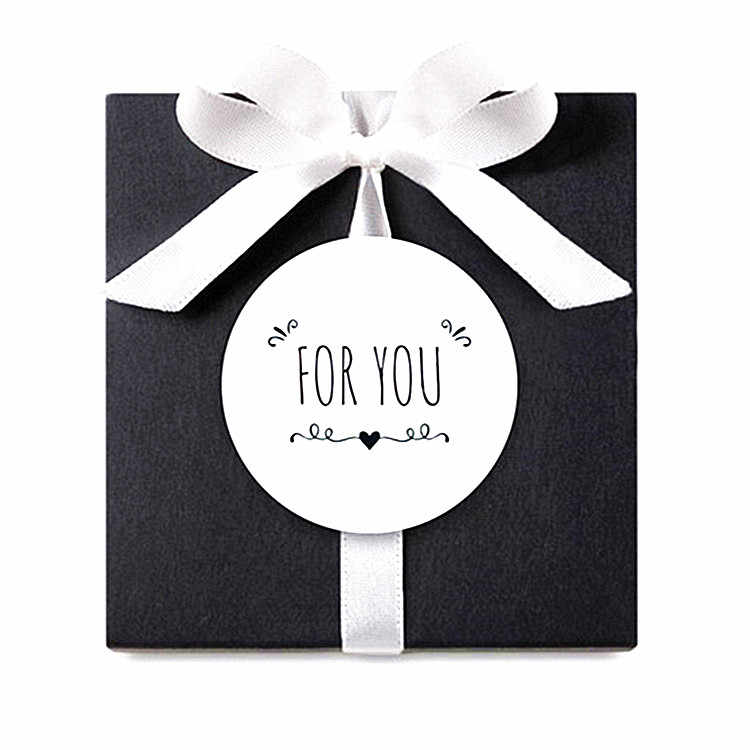 "270pcs/lot  white circular ""for you"" seal sticker gift box sticker baking package cake box decoration packaging sticker"