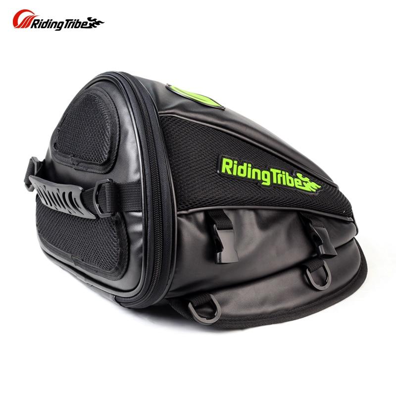 Riding Tribe Leather saddle motorcycle back seat bag waterproof moto bag motocicleta racing oil back seat Travel