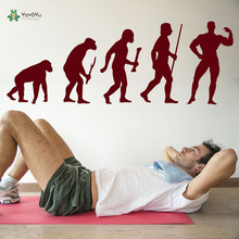 YOYOYU Wall Decal Removeable Stickers For Decoration Bodybuilding Evolution Ape To ManSports Gym Poster Decor YO255