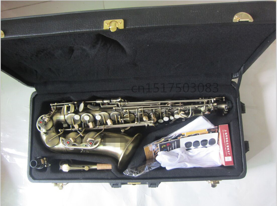 Saxophone Jazz Alto saxophone Antique bronze Boquilha Sax alto Musical instruments professional Free shipment professional red antique alto saxophone sax high f engraving with case
