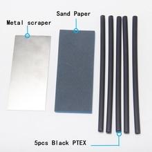 XCMAN स्की स्नोबोर्ड noridc xc Ptex ड्रिप मोमबत्ती बेस मरम्मत स्टीकर पीटीईएक्स किट: 5 पीटीएक्स, स्क्रैपर, स्पंज स्पंज