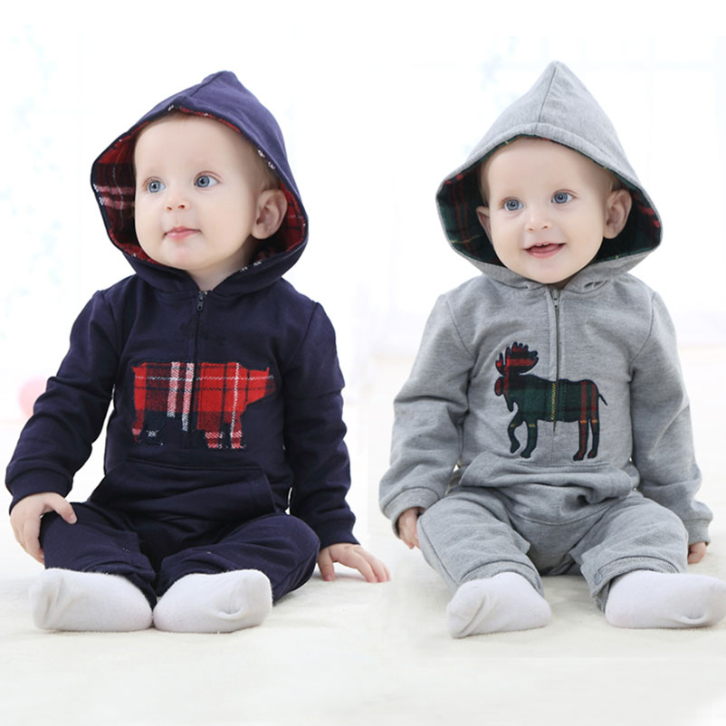 Consumer Electronics Newborn Baby Ropmer Cartoon Long Sleeve 0-2 Years Kids Boy Girl Clothes 100% Cotton Hooded Climb Sleepwear Mobile Phone Straps To Enjoy High Reputation At Home And Abroad