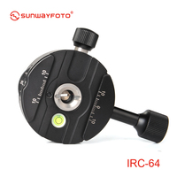 SUNWAYFOTO IRC 64 Tripod Head Panoramic Indexing Rotator Quick Release Clamp with 4, 8, 12, 24 Detent Click Stops Arca
