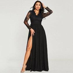 Vestido De Festa Sale Zanzea European And American Women's Free Shipping 2019 Summer New Solid Color Lace Dress Elegant Female 2